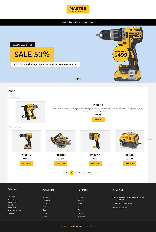 Master Tools Store WooCommerce Theme