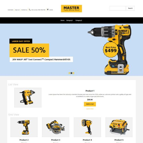 MasterTool Tools Store Prestashop Theme