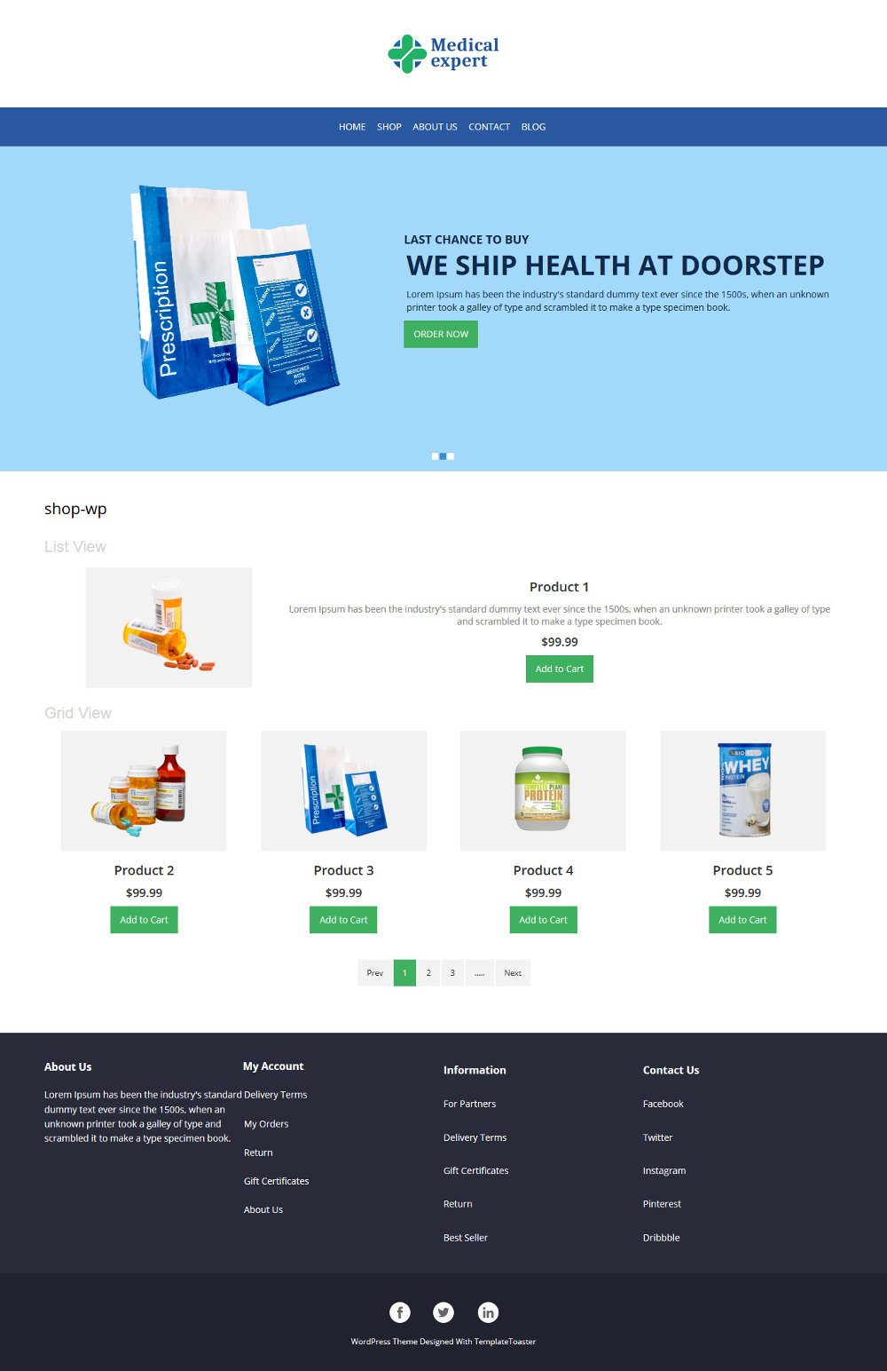 Medical Expert Online Medical Store WooCommerce Theme