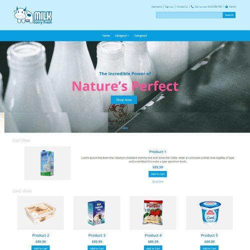 Milk Dairy Fresh Dairy Products PrestaShop Theme