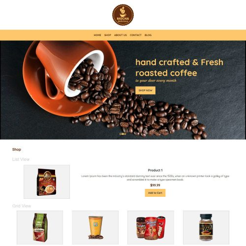 Mocha Coffee Shop WooCommerce Theme