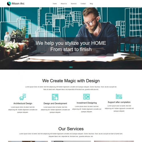 Moon Arc Interior Design Studio Free WordPress Theme