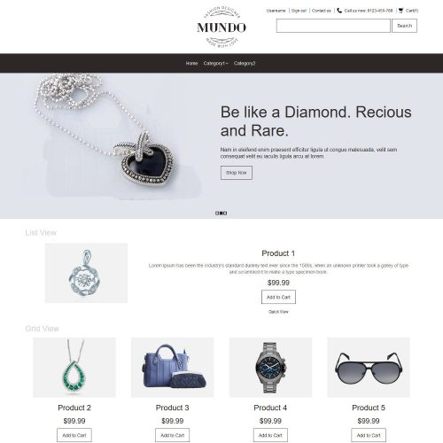 Mundo Fashion Accessories PrestaShop Theme