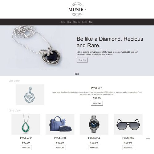 Mundo Fashion Accessories WooCommerce Theme