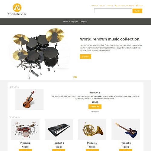 Music Store Music Instruments Prestashop Theme