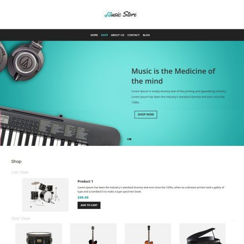 Music Store - Music Instruments WooCommerce Theme