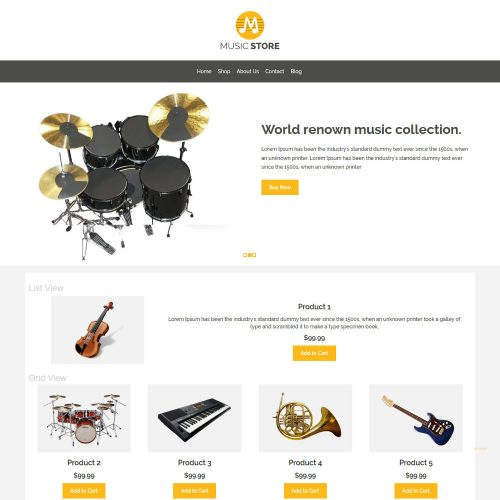 Music Store Music Instruments WooCommerce Theme