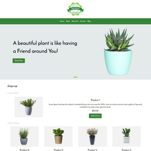 Natural Plant Online Plants Selling WooCommerce Theme