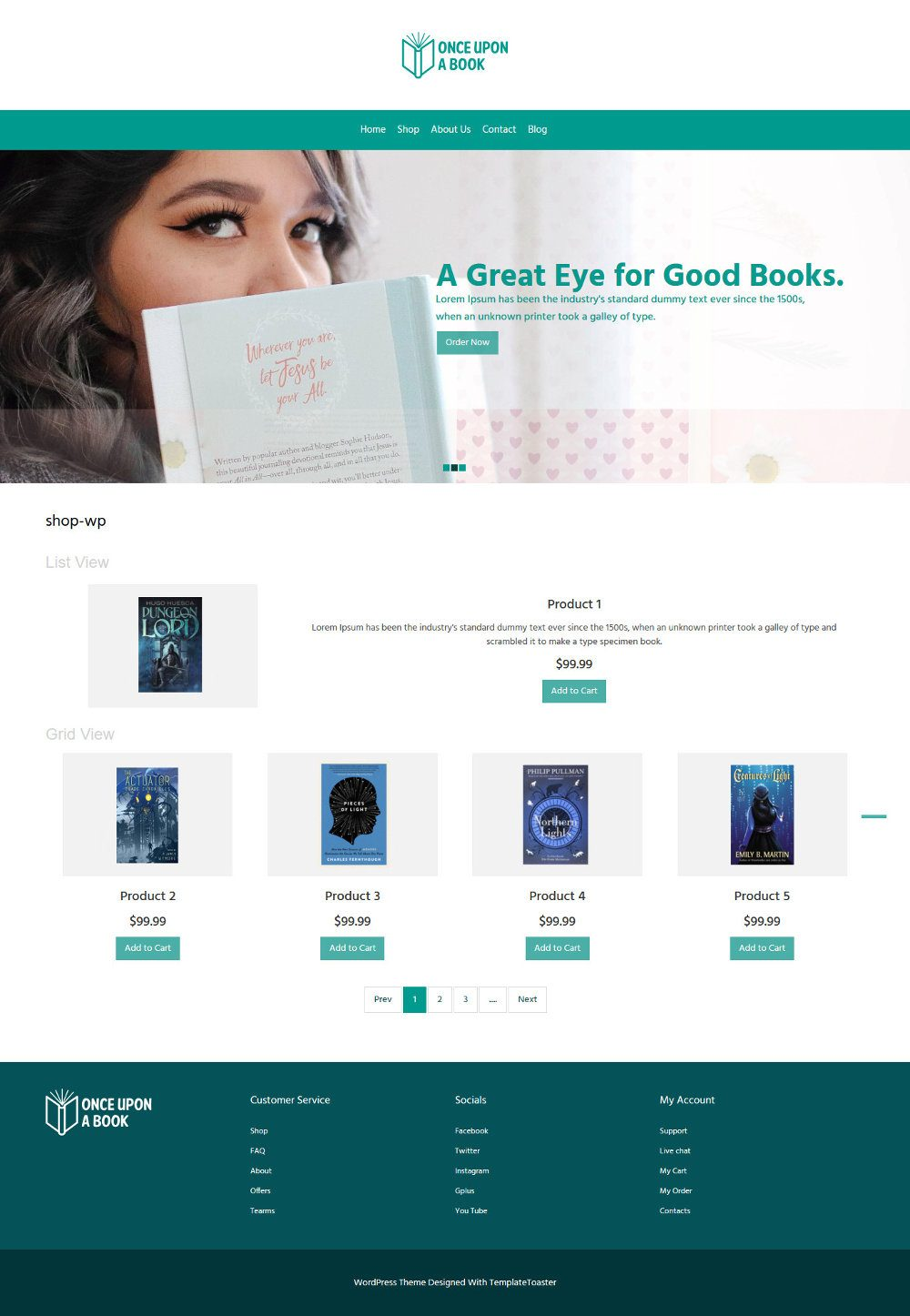 Once Upon a Book Online Book Store WooCommerce Theme
