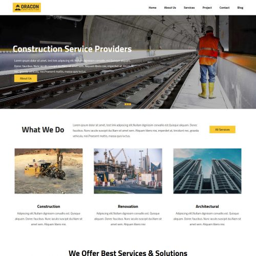 Oracon Construction Company Free WordPress Theme