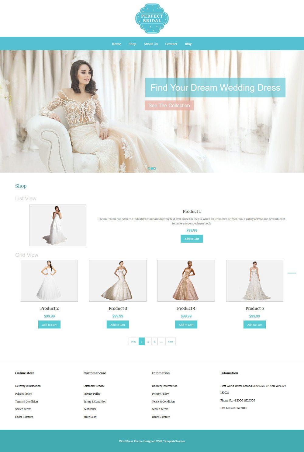 Perfect Bridal Wedding Dresses WooCommerce Theme
