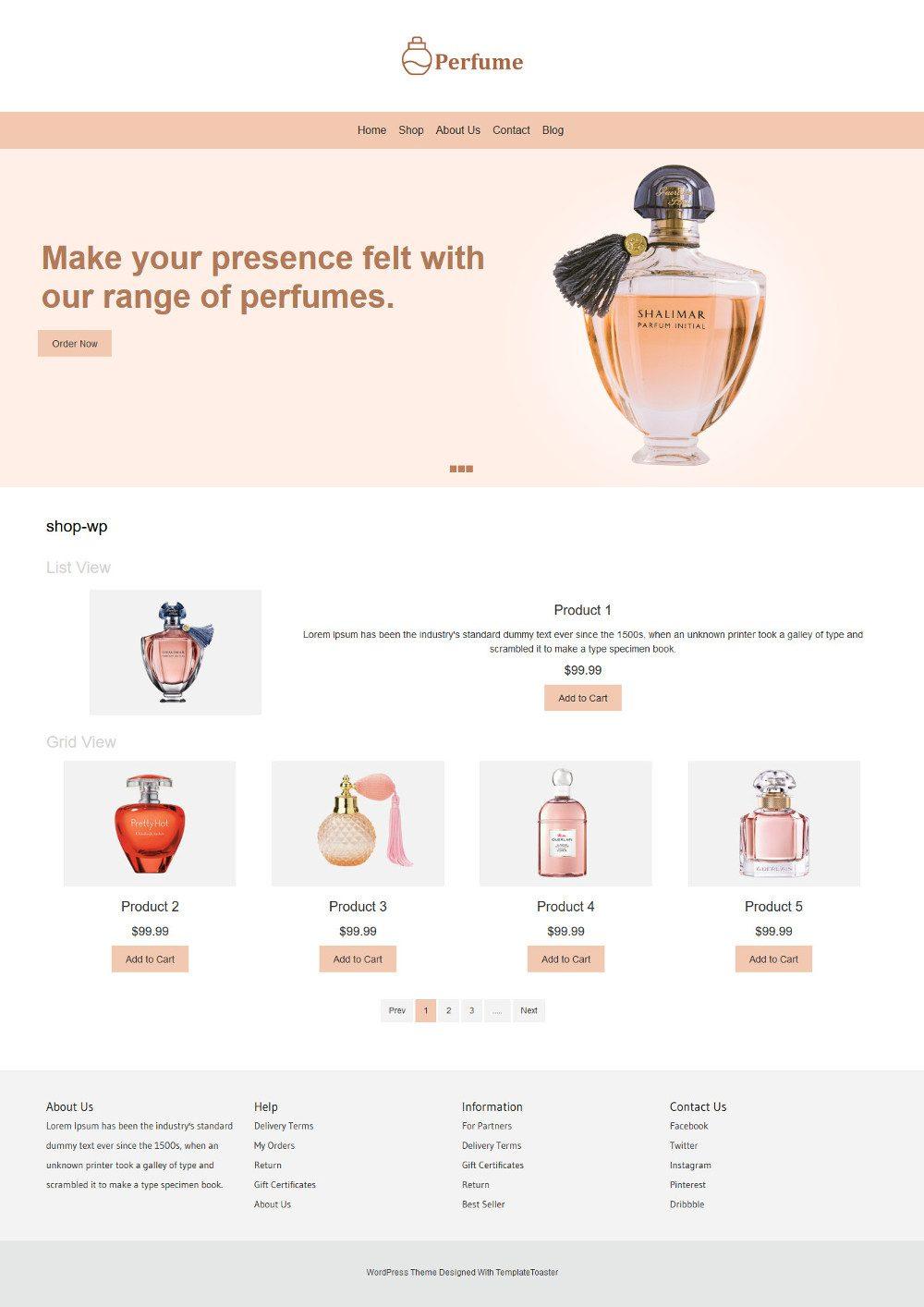 Perfume Online Store WooCommerce Theme