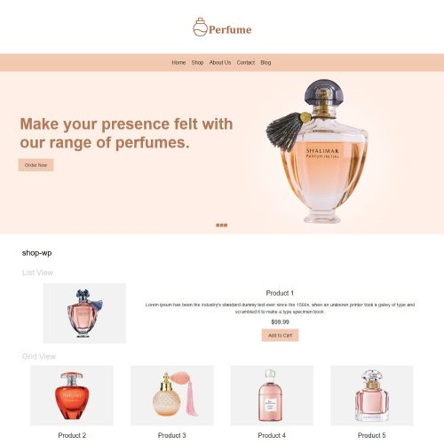 Perfume Online Store WooCommerce Theme