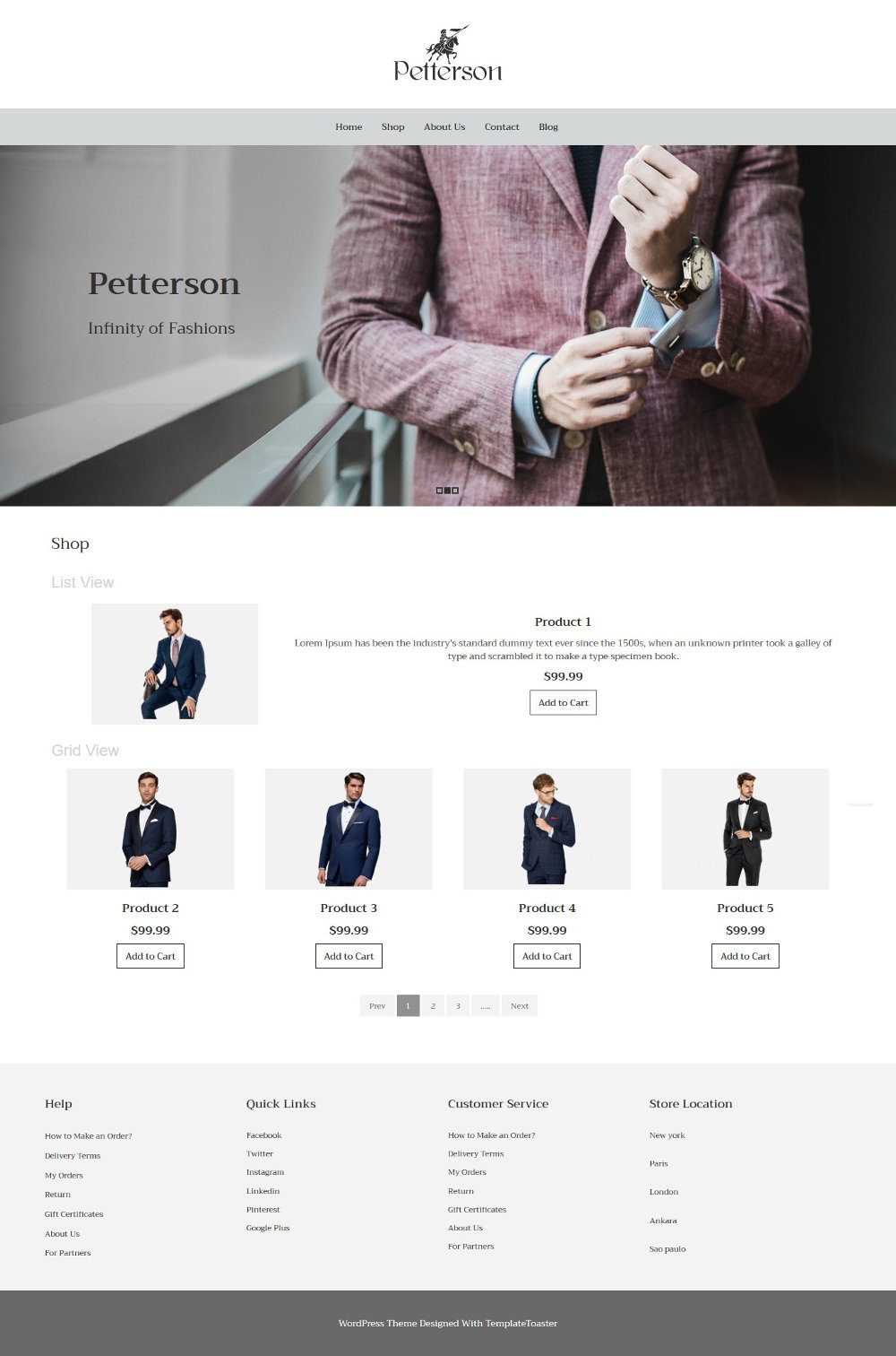 Pettersen Clothing WooCommerce Theme