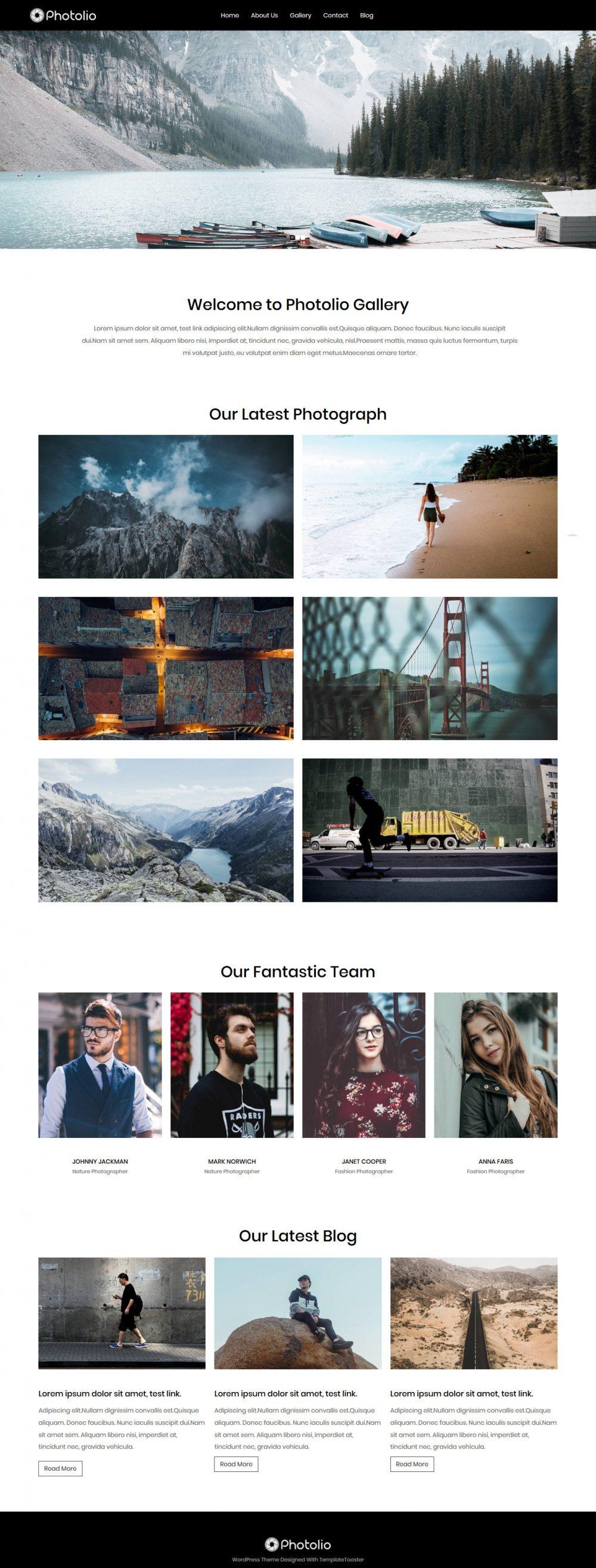 Photolio Photography Free Joomla Template