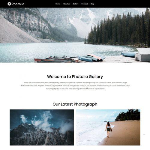 Photolio Photography Free WordPress Theme