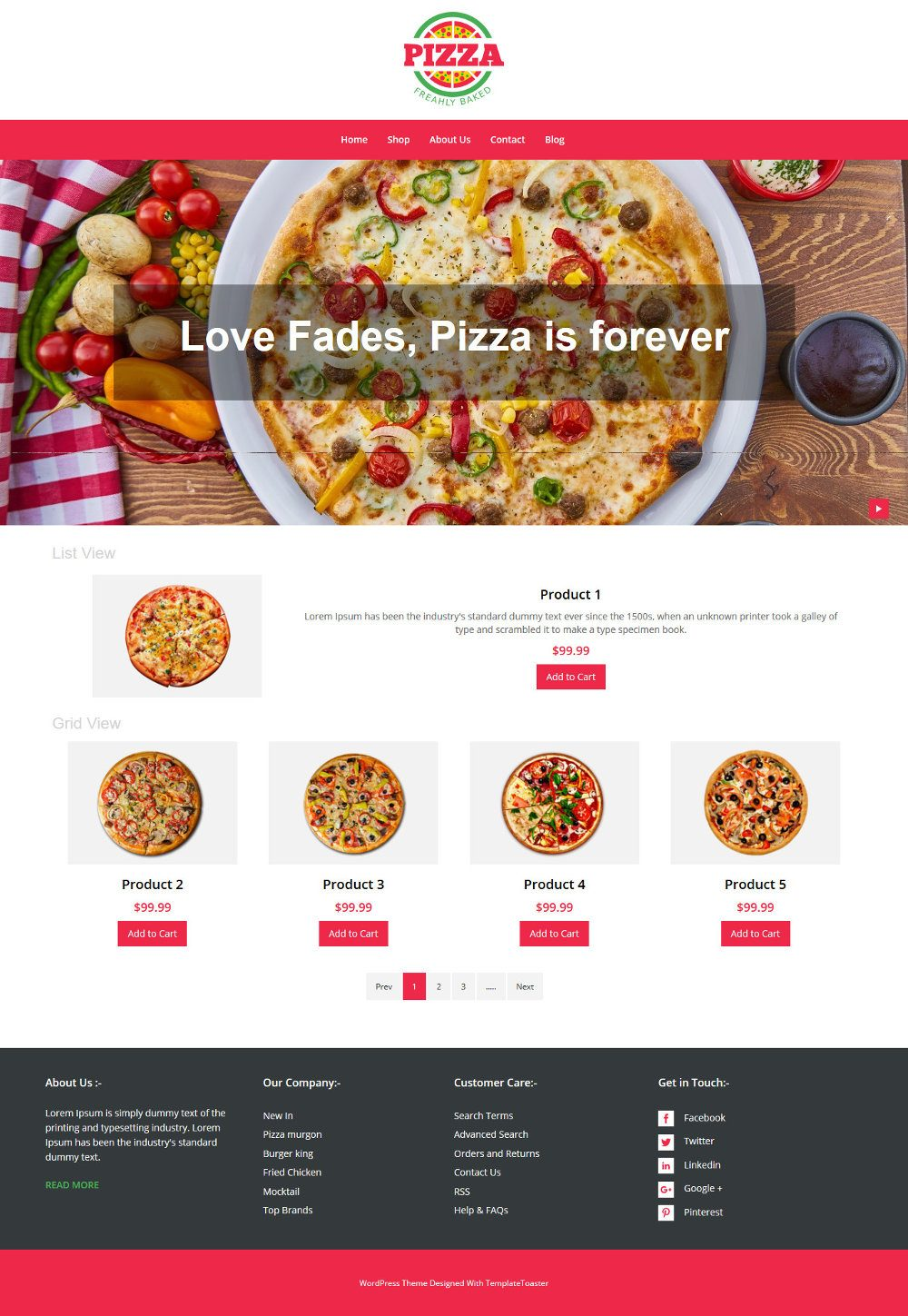 Pizza Store WooCommerce Theme