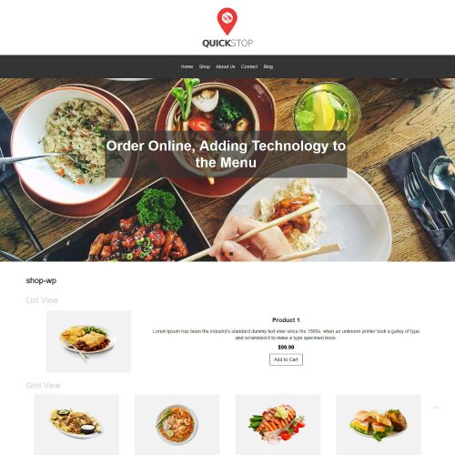 Quick Stop Online Restaurant WooCommerce Theme