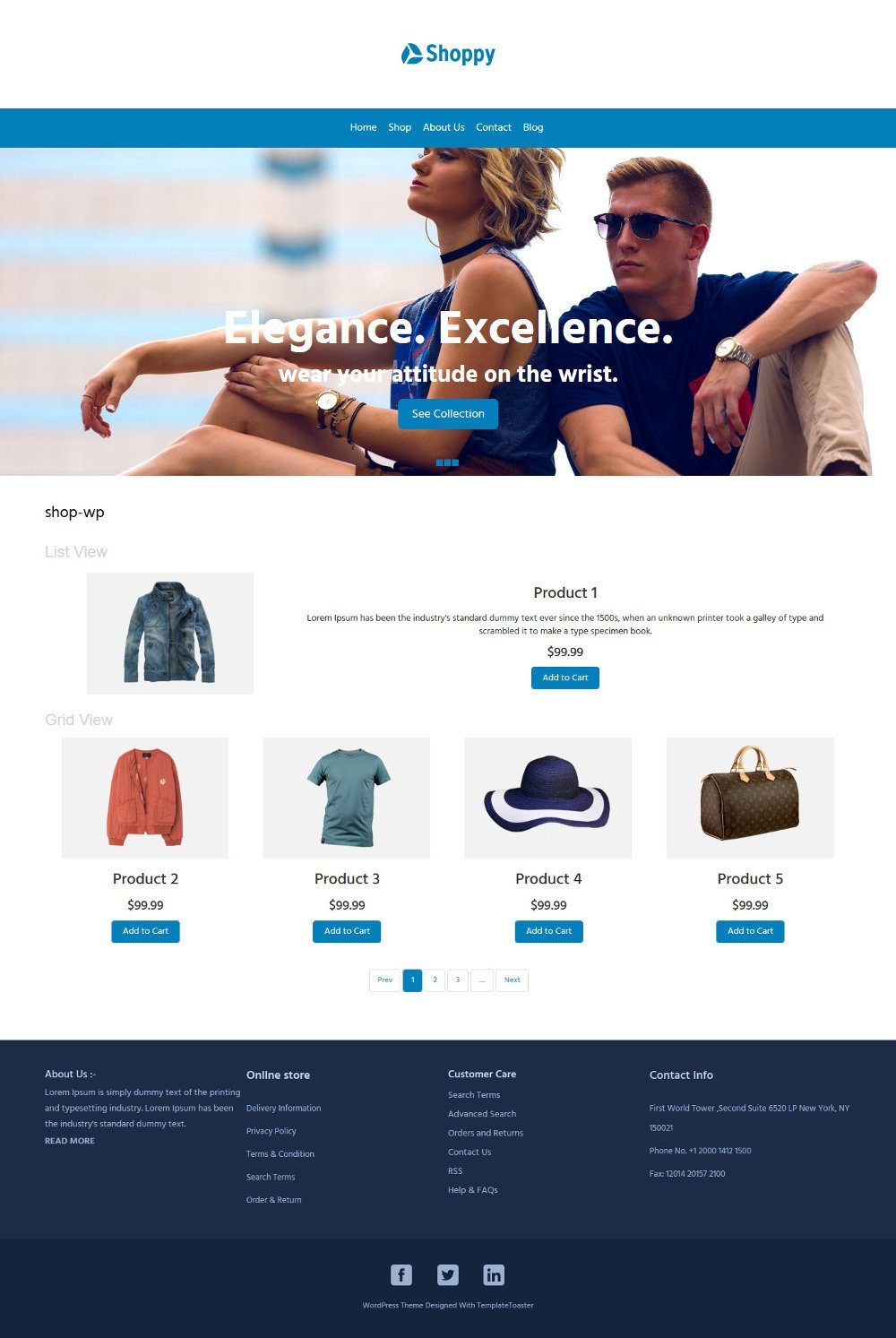 Shoppy Fashion Clothes and Accessories WooCommerce Theme