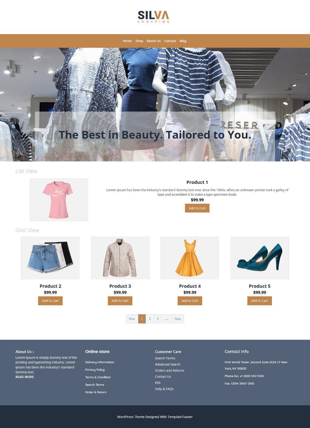 Silva Clothing Store WooCommerce Theme