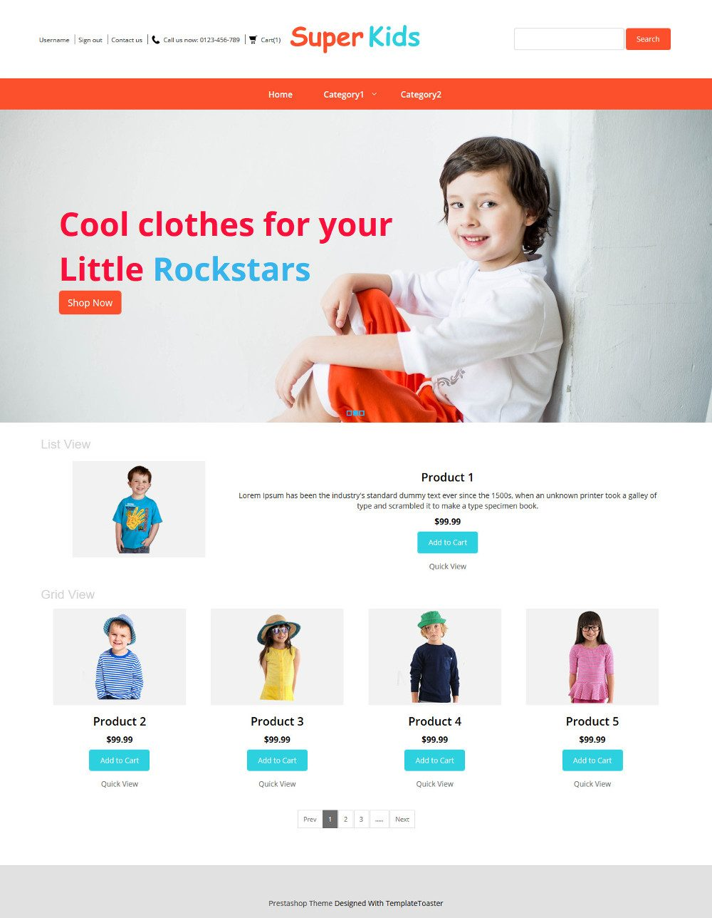 Super Kids Clothing PrestaShop Theme