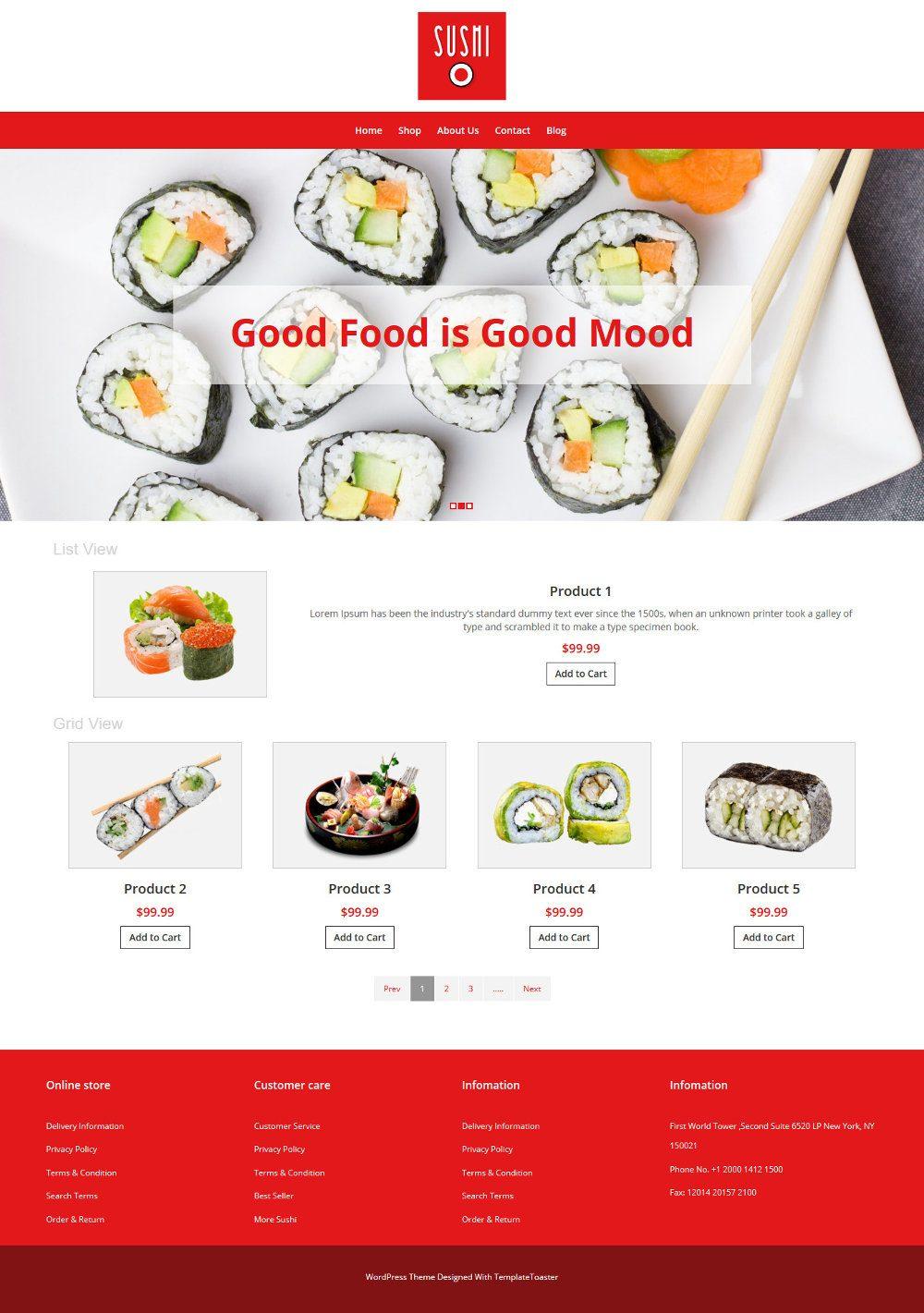 Sushi Foods WooCommerce Theme