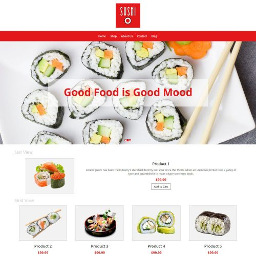 Sushi Foods WooCommerce Theme