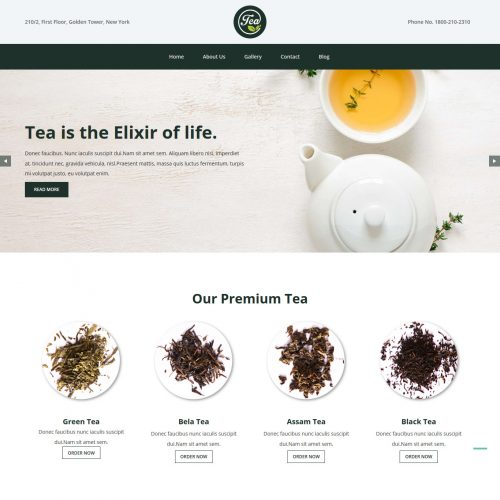 Tea And Coffee Company Free Joomla Template