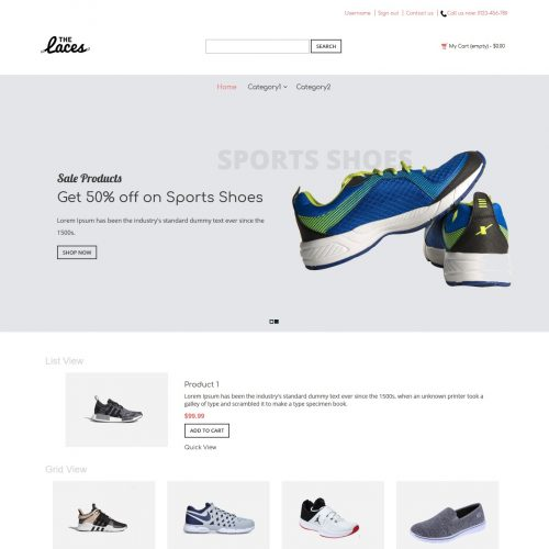 The Laces - Footwear Shop PrestaShop Theme