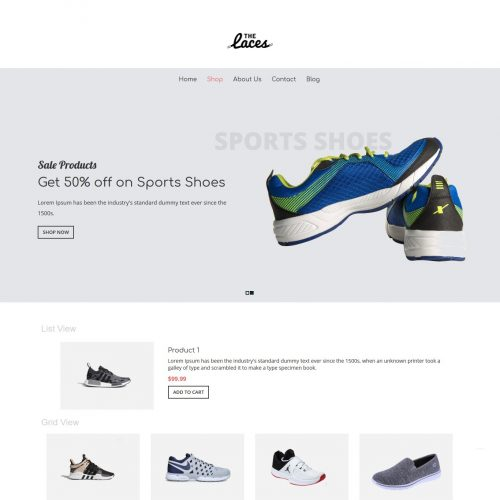 The Laces - Footwear Shop WooCommerce Theme