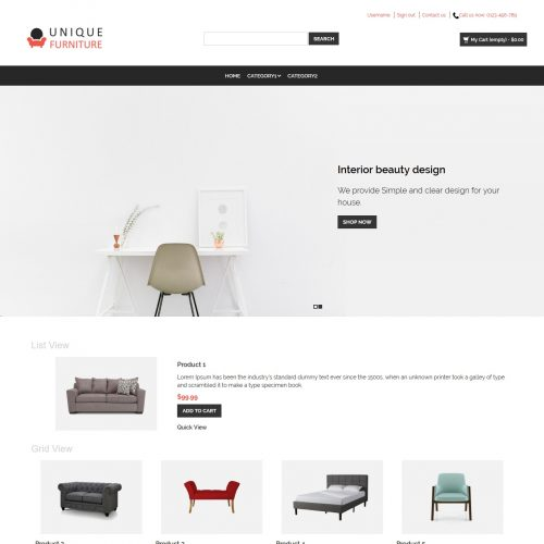 Unique Furniture - Furniture Shop PrestaShop Theme