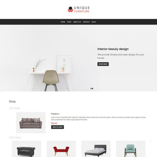 Unique Furniture - Furniture Shop WooCommerce Theme