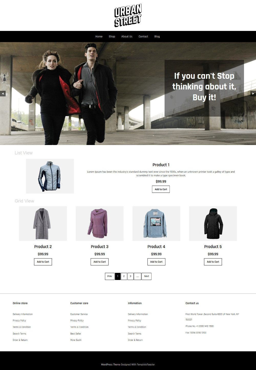 Urban Street Clothing Store WooCommerce Theme