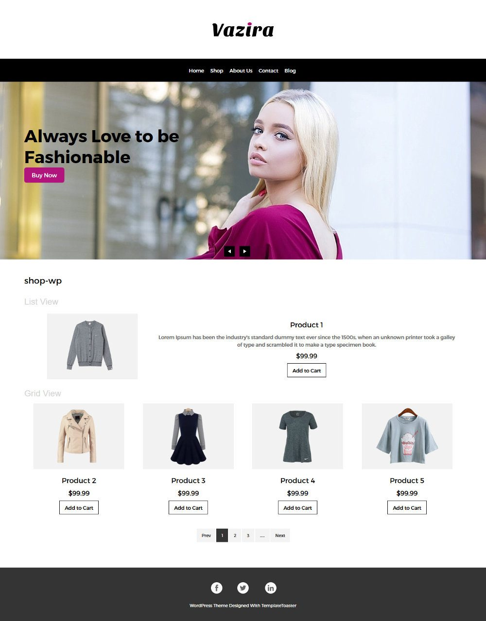 Vazira Fashion Clothes and Accessories WooCommerce Theme