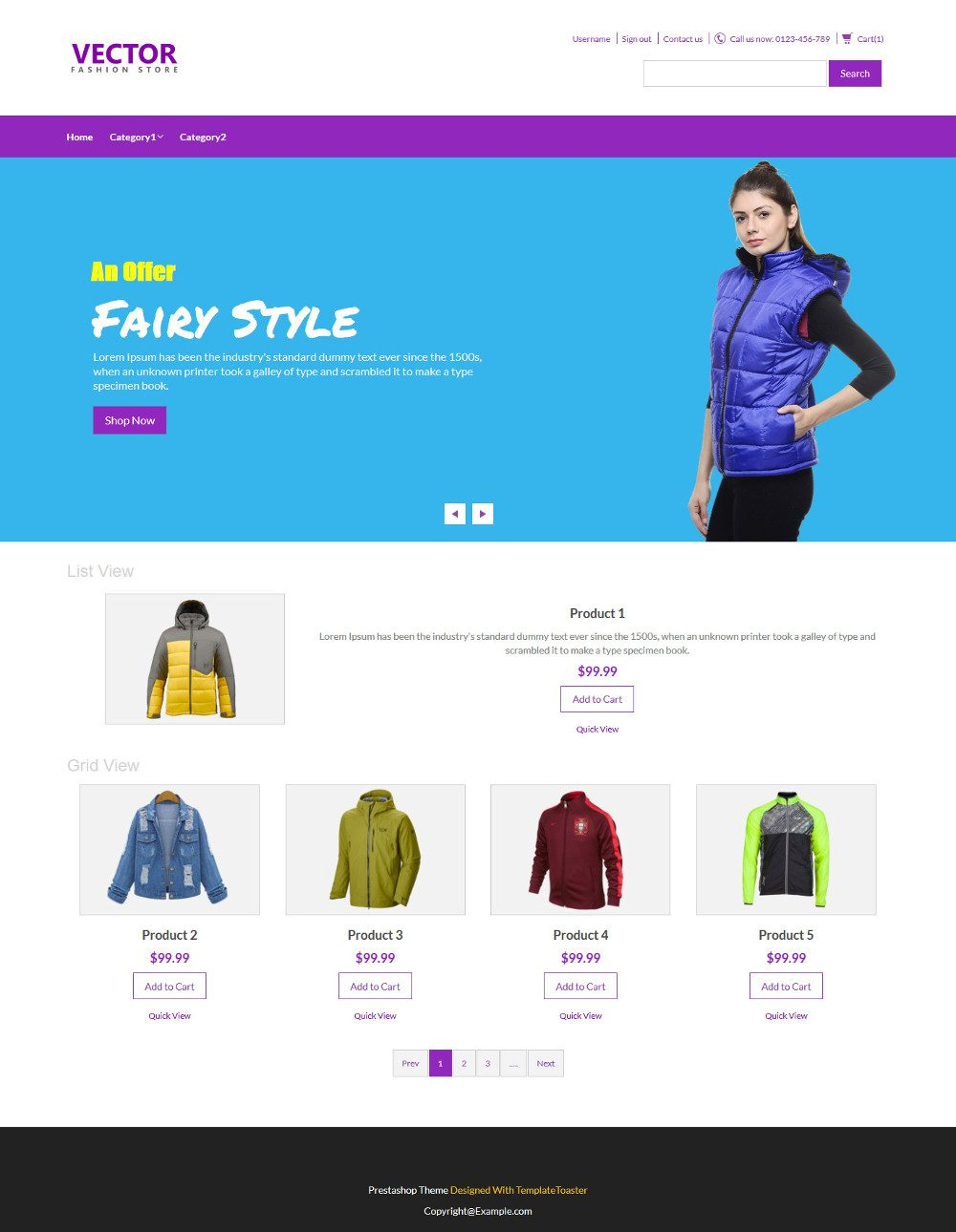 Vector Fashion Accesories PrestaShop Theme