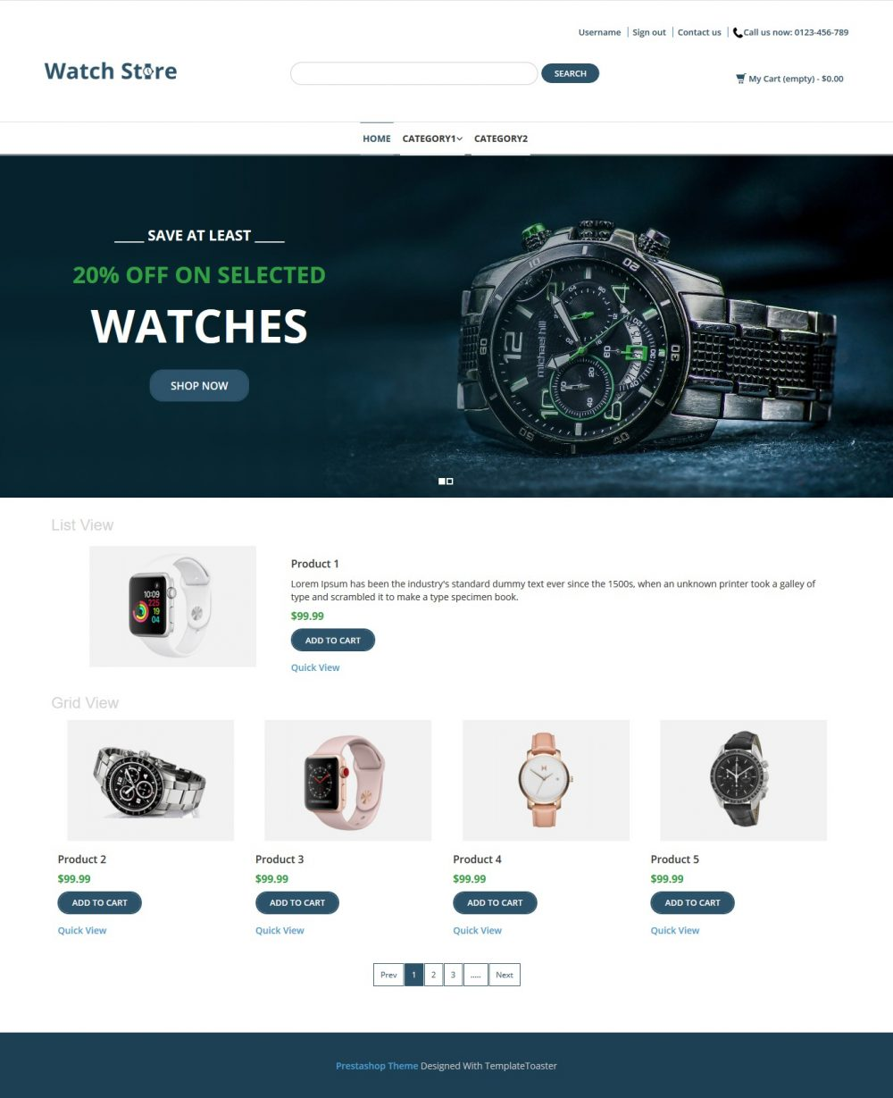Watch Store - Watch Shop PrestaShop Theme