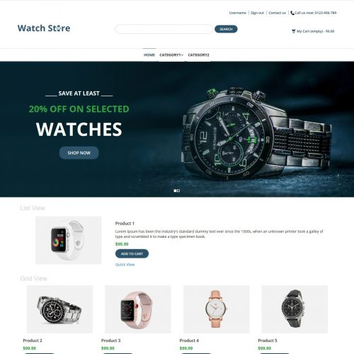 Watch Store - Watch Shop PrestaShop Theme