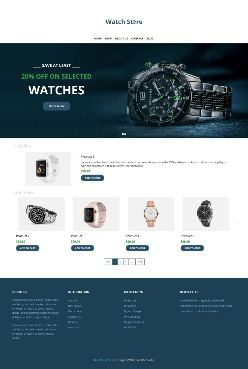Watch Store - Watch Shop WooCommerce Theme