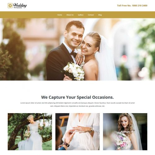 Wedding Photography Free Joomla Template
