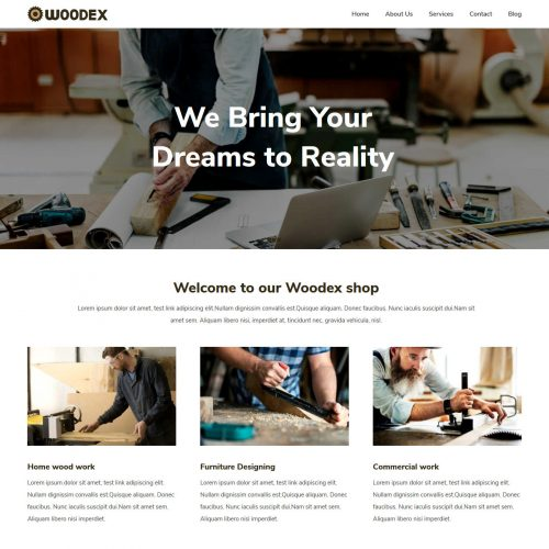 Woodex Carpenter Free WordPress Theme