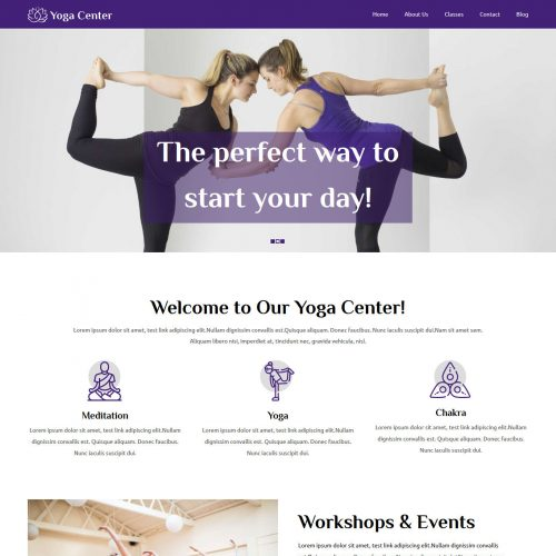 Yoga Center Yoga WordPress Theme
