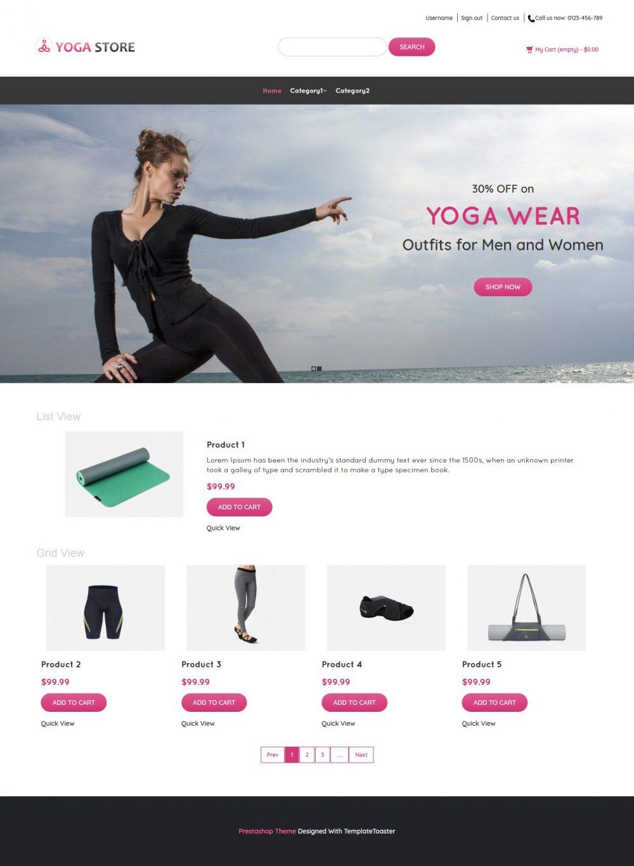 Yoga Store - Yoga Product Shop PrestaShop Theme