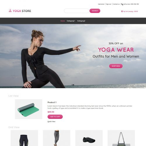 Yoga Store - Yoga Product Shop PrestaShop Theme