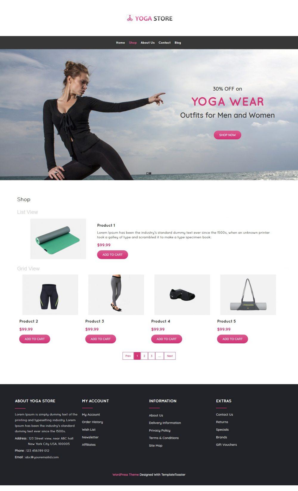 Yoga Store - Yoga Product Shop WooCommerce Theme