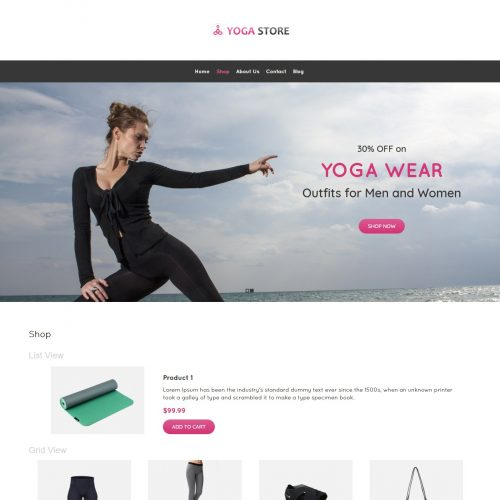 Yoga Store - Yoga Product Shop WooCommerce Theme