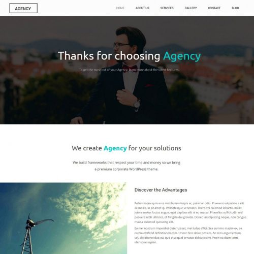 Agency - Creative and Simple Free WordPress Theme
