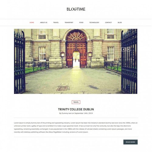 Blog Time - Creative Blog WordPress Theme