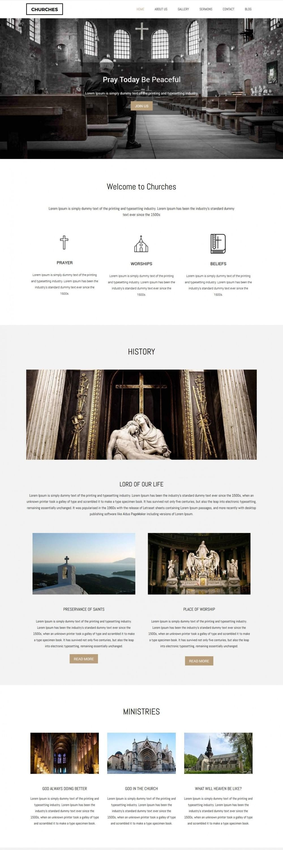 Churches - Charity/Fund Raising WordPress Theme