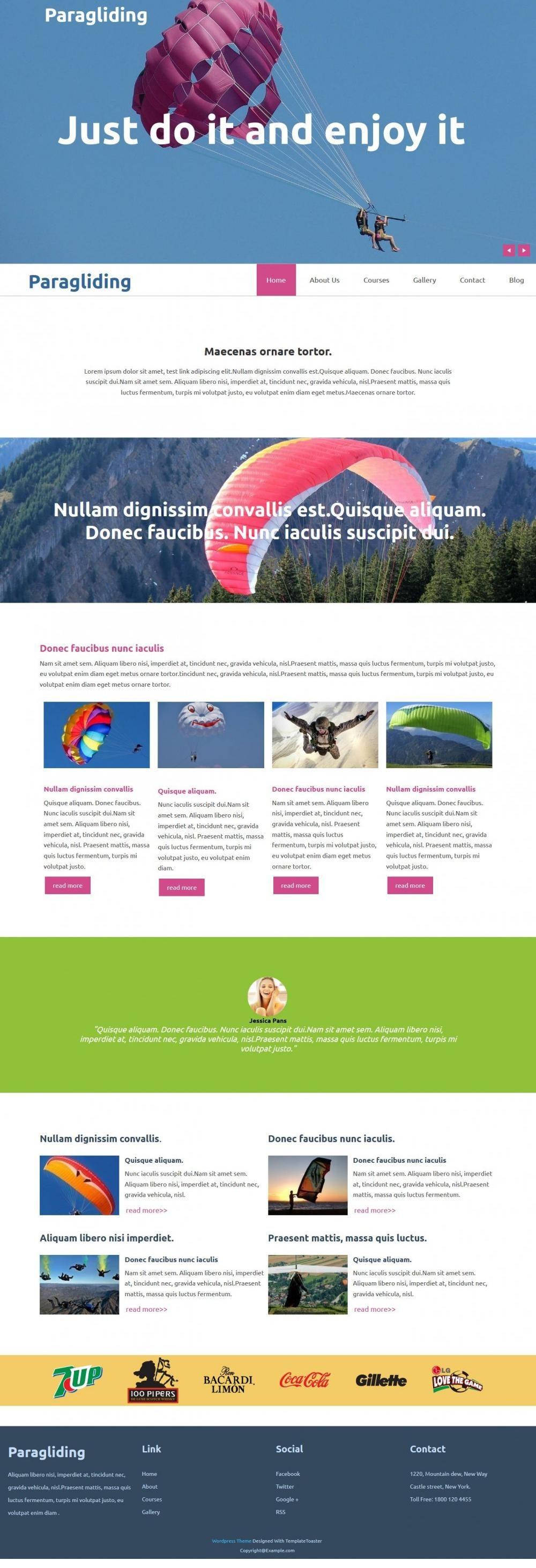 Paragliding - WordPress Theme for Paragliding Academy