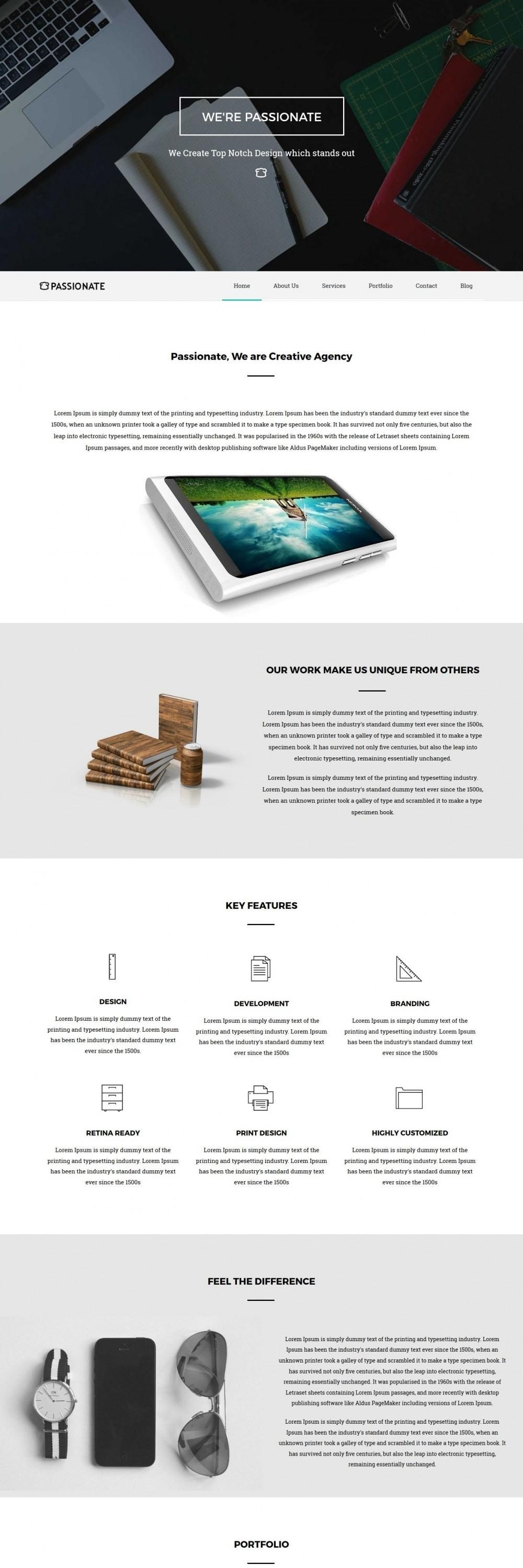 Passionate - Web/App Design Studio WordPress Theme